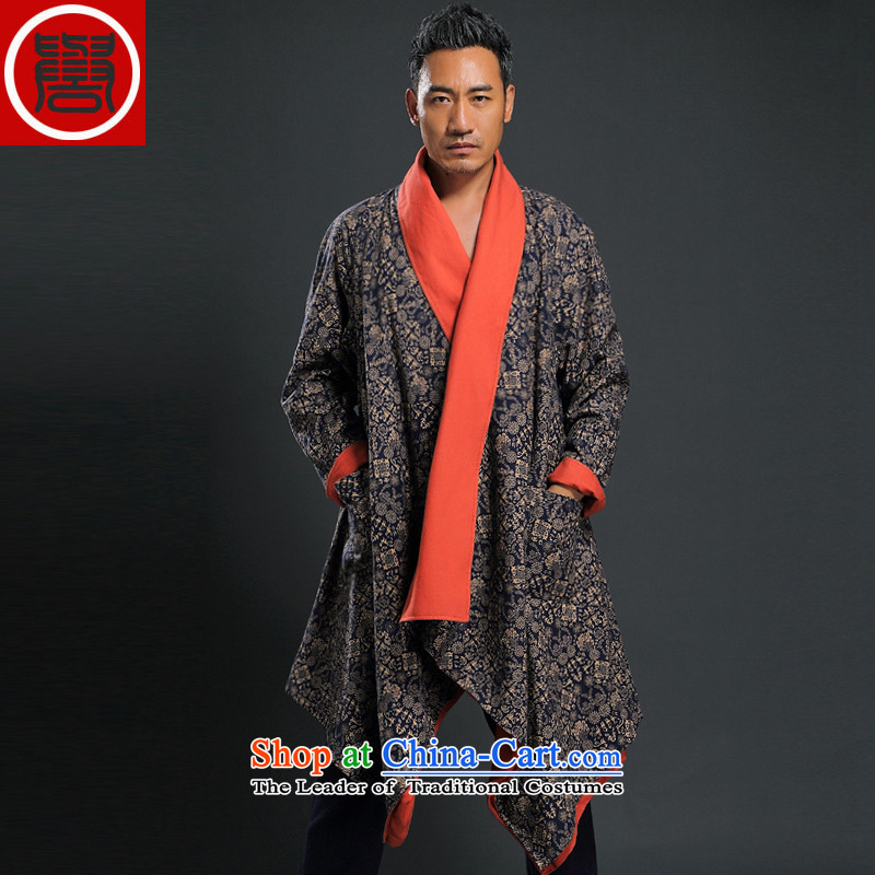 Renowned Tang dynasty China wind male Han-yi, cotton leprosy linen ball-zen unexpected grand prix cardigan loose double-sided frock coat black two wearing windbreaker聽, L, renowned (CHIYU) , , , shopping on the Internet