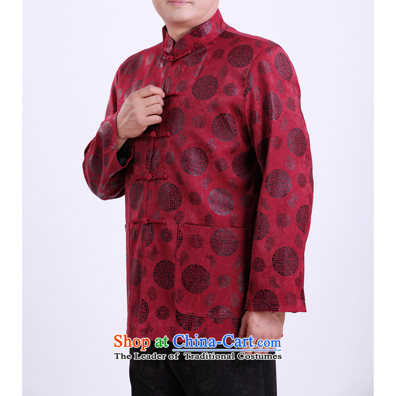 Mr Rafael Hui Kai new Timor Man Tang dynasty autumn and winter coats and long-sleeved in Tang Dynasty older men Tang blouses 13,142 Red聽Spring and Autumn, Dili 190/ Shi Kai , , , shopping on the Internet