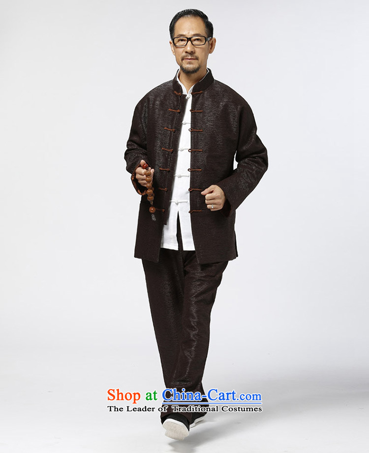 Ho Chi elderly long-sleeved jacket Tang Grandpa creasing of long-sleeved shirt elderly Chinese thick China wind clothes reddish brown聽XL Photo, prices, brand platters! The elections are supplied in the national character of distribution, so action, buy now enjoy more preferential! As soon as possible.