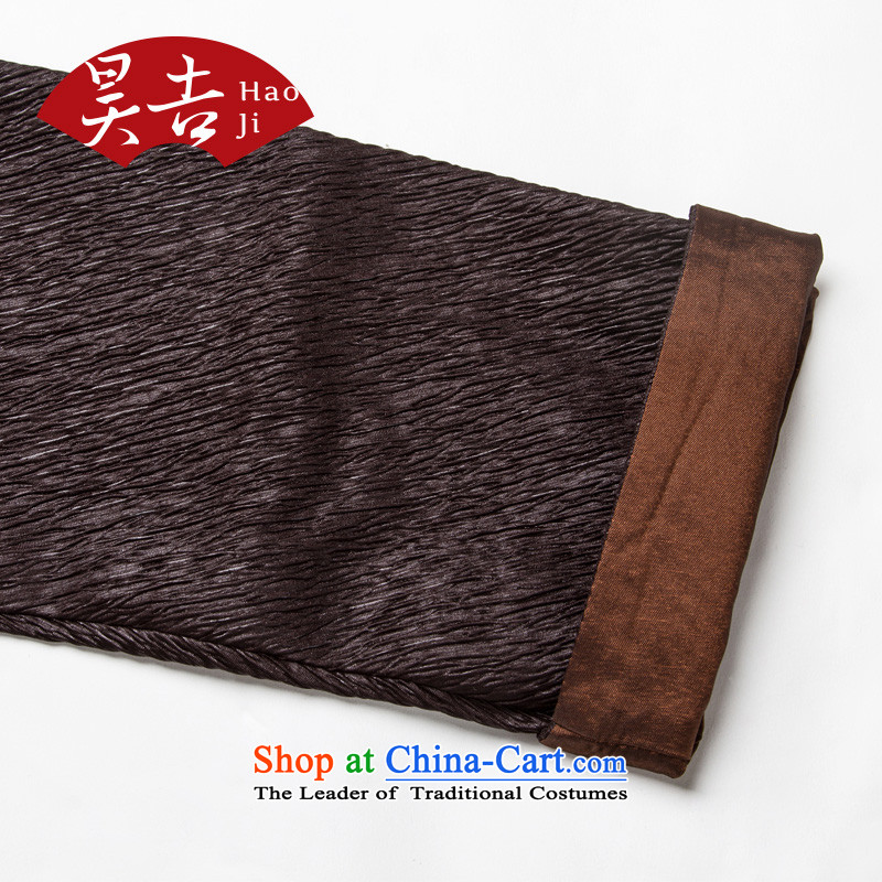 Ho Chi elderly long-sleeved jacket Tang Grandpa creasing of long-sleeved shirt elderly Chinese thick China wind clothes reddish brown聽XL, Ho Chi , , , shopping on the Internet