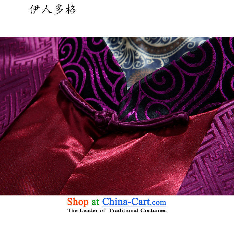 The Mai-Mai multi-autumn and winter thick Tang dynasty and the father in the Tang dynasty elderly men elderly persons in the life of Chinese clothing jacket purple聽XXXL, Mai-mai multiple cells (YIRENDUOGE) , , , shopping on the Internet