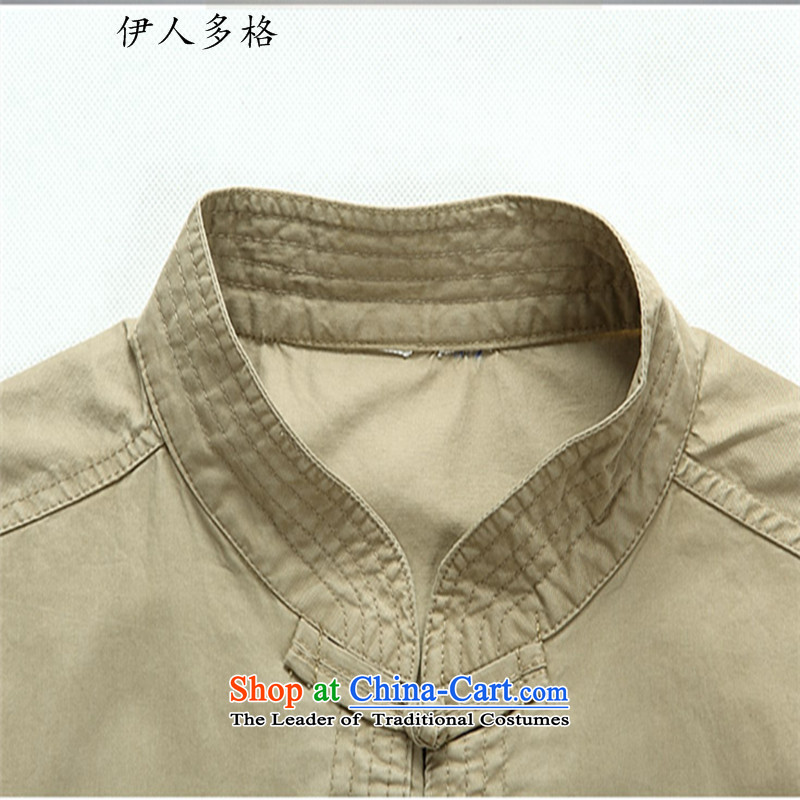 The Mai-Mai multiple cells聽 in the summer of 2015, Tang dynasty older men and short-sleeved middle-aged man kit Mr Tang dynasty short-sleeved kit of older persons for summer dark green聽XL, Mai-Mai multiple cells (YIRENDUOGE) , , , shopping on the Internet
