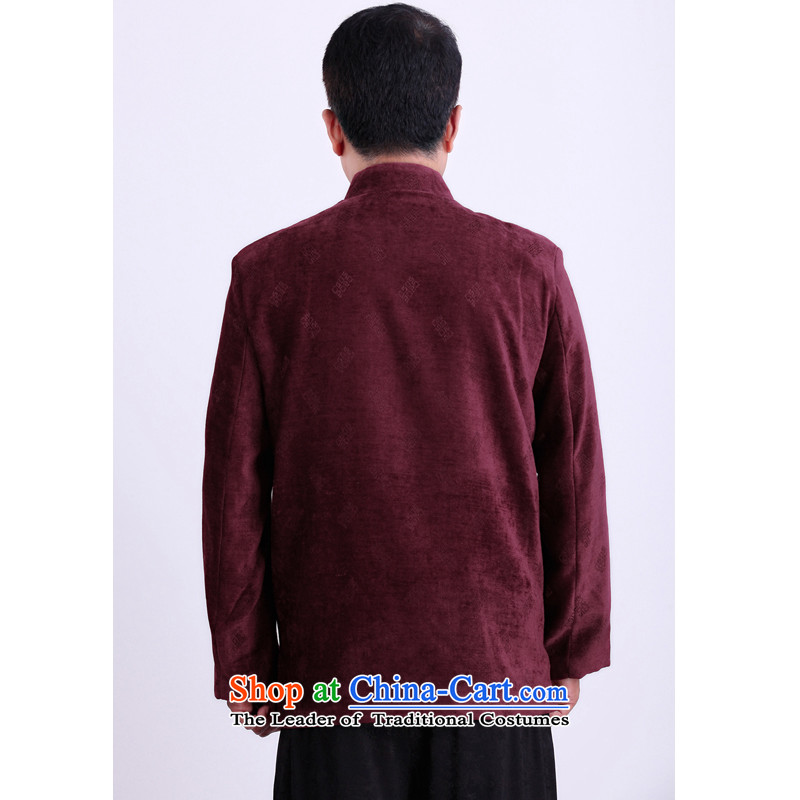 Mr Rafael Hui Kai new Timor Man Tang dynasty winter coats of Tang Dynasty in older men's long-sleeved blouses Tang聽emperor-see 185 Red There Gloria , , , shopping on the Internet