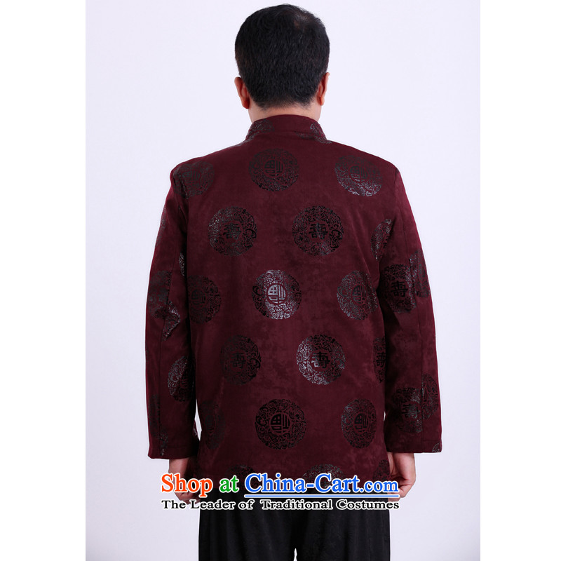 2015 WINTER New Tang dynasty in Tang dynasty and a long-sleeved older Chinese dress too happy life men's jackets bis 13143聽170/spring and autumn, purple, Dili Shi Kai , , , shopping on the Internet