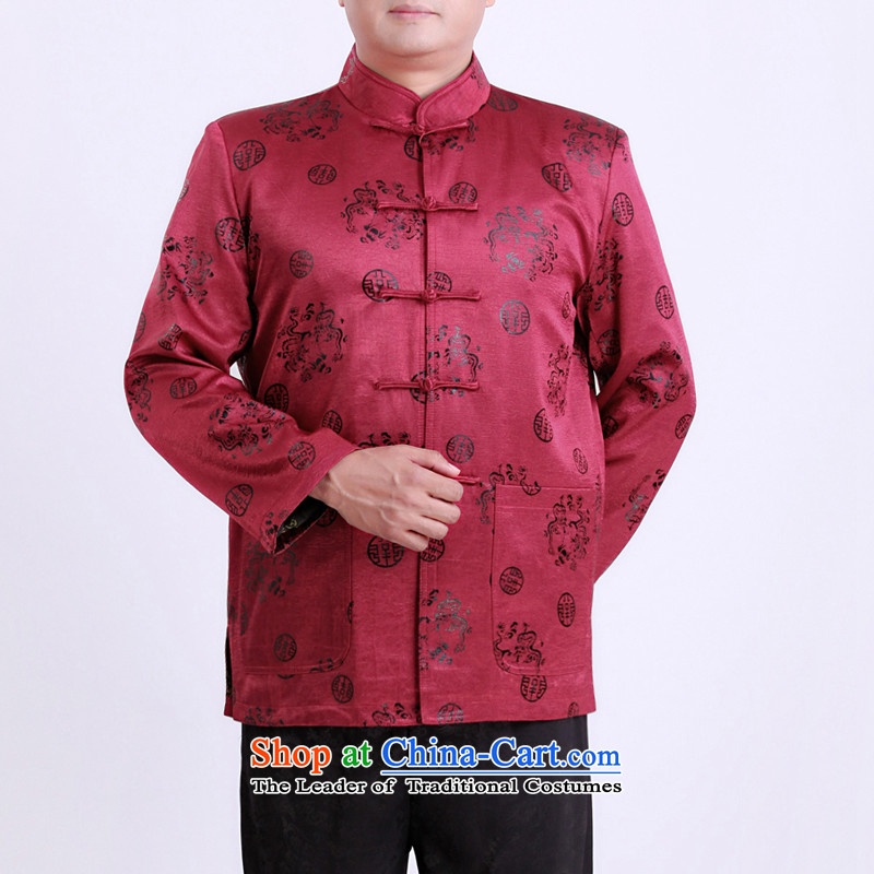 The Spring and Autumn Period and the new Man Tang dynasty father elderly men in Tang Dynasty thin cotton Tang jackets men 13131聽170_spring and autumn, Purple