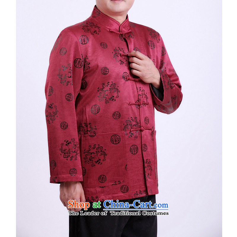 The Spring and Autumn Period and the new Man Tang dynasty father elderly men in Tang Dynasty thin cotton Tang jackets men 13131聽170/spring and autumn, purple, Dili Shi Kai , , , shopping on the Internet