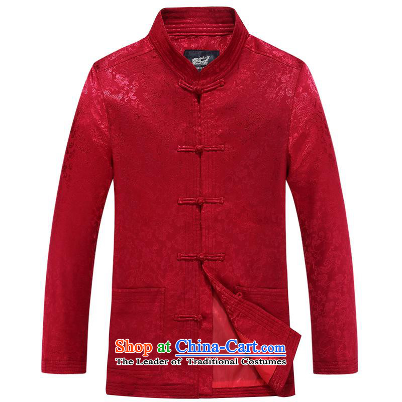 The elderly in the Tang dynasty aeroline men loaded long-sleeved red cotton father?175