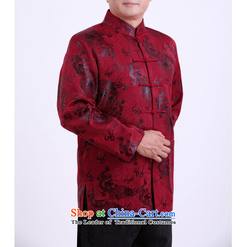 2015 WINTER New Tang dynasty in Tang Dynasty father load older elderly persons in Sau clothing Chinese men's jackets 13139 aubergine聽170/Winter) folder, the Rafael Hui Kai, cotton , , , shopping on the Internet