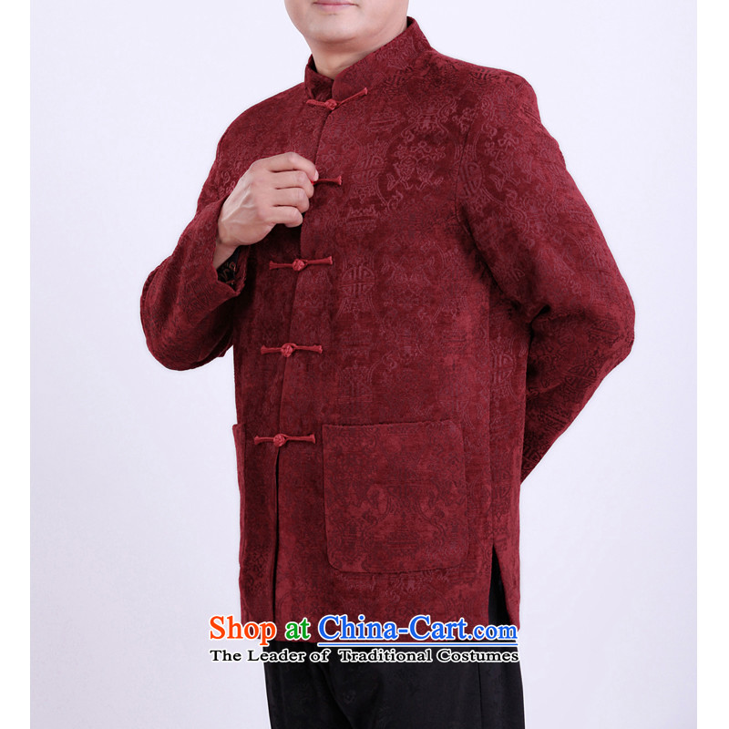 The Rafael Hui Kai Man Tang dynasty new winter jackets for older Tang Tang blouses Male 13147?175/spring and autumn, red