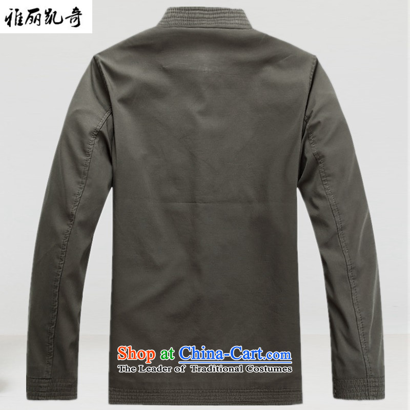 Alice Keci new spring and autumn men Tang jackets Chinese holiday gifts in addition jacket older men China Wind Jacket collar embroidery cotton coat pale green聽S, Alice keci shopping on the Internet has been pressed.
