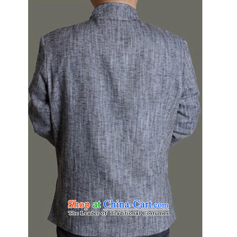 The Spring and Autumn Period and the new Man Tang dynasty men cotton linen solid color jacket embroidered in Chinese Tang dynasty older 13163 165 gray T-shirt, Mr Rafael Hui Kai.... In Dili shopping on the Internet