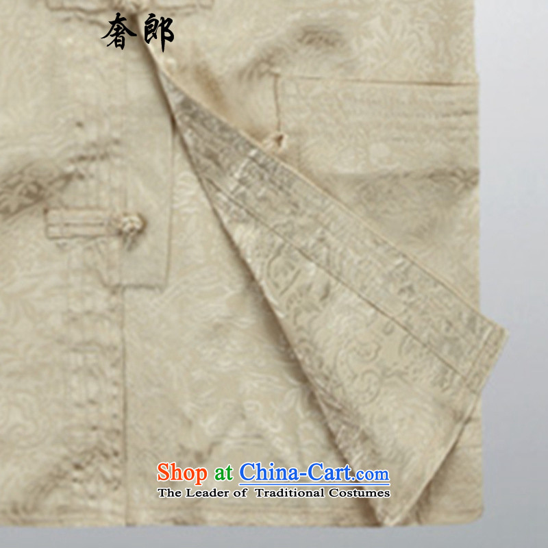 The luxury Health聽 2015 middle-aged men Tang dynasty l of older persons in the men's Han-load father hand fall arrest large shirts disc male father boxed packaged聽XXL/185, beige luxury health , , , shopping on the Internet