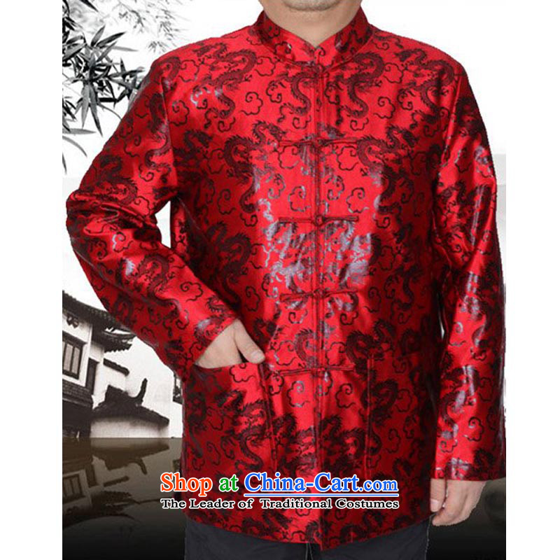 The Spring and Autumn Period and the Tang dynasty and the new thin cotton jacket in older men Tang Dynasty Chinese men's jackets 13179 red聽winter_ cotton folder 180_
