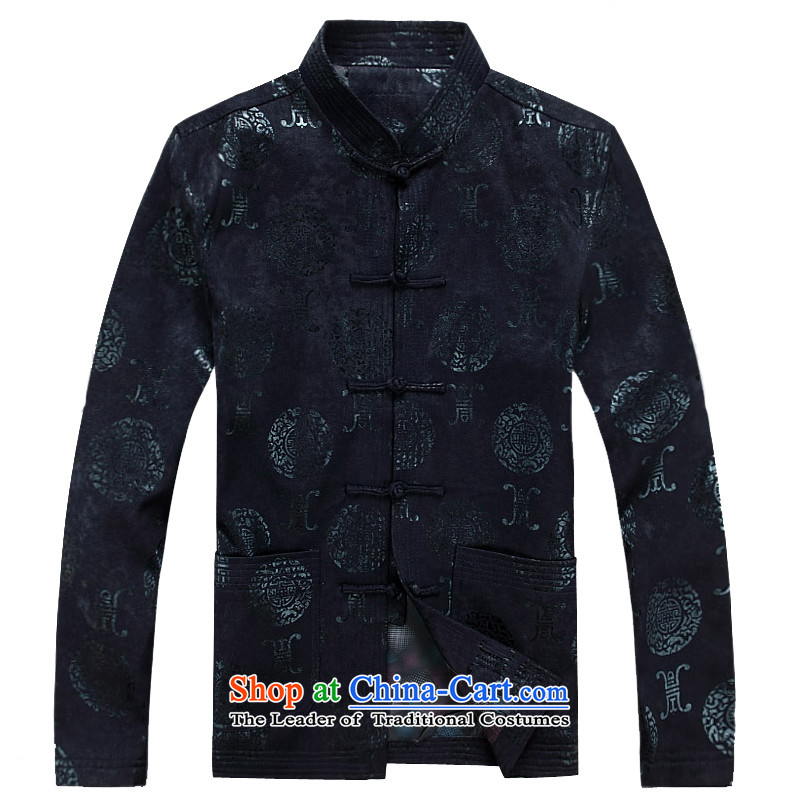 Mr Ma urban 2015 autumn and winter Tang long-sleeved jacket men herbs extract Tang Dynasty Akio elderly father boxed long-sleeved jacket bourdeaux leisure Chinese tunic聽, L, Luo Princess (ROLMACITY urban shopping on the Internet has been pressed.)