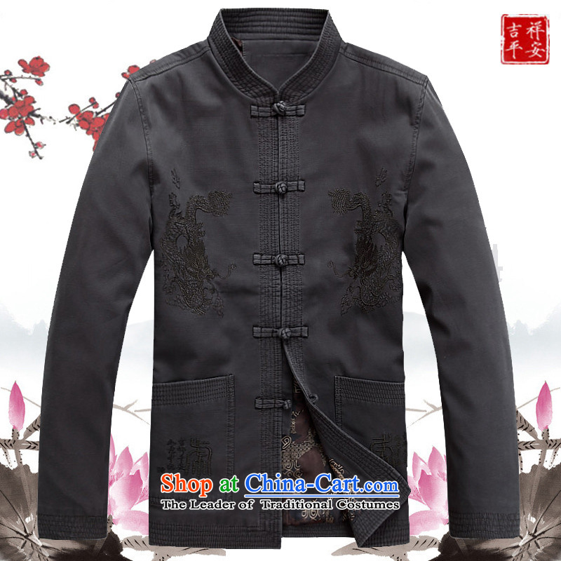 Mr Ma urban 2015 autumn and winter Tang long-sleeved jacket men cotton linen in Tang Dynasty Akio older father boxed long-sleeved jacket Male Red Chinese tunic leisure聽L/175, LO PRINCESS (ROLMACITY urban shopping on the Internet has been pressed.)