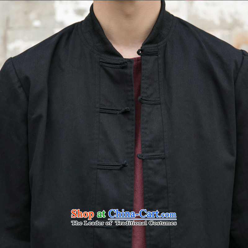 With the fall of the fiscal reported replace original design of China wind retro Tang jacket men pure cotton pad detained baseball uniform jacket male and Navy聽S, reported the fiscal Saga (BAOCAISHIJIA) , , , shopping on the Internet
