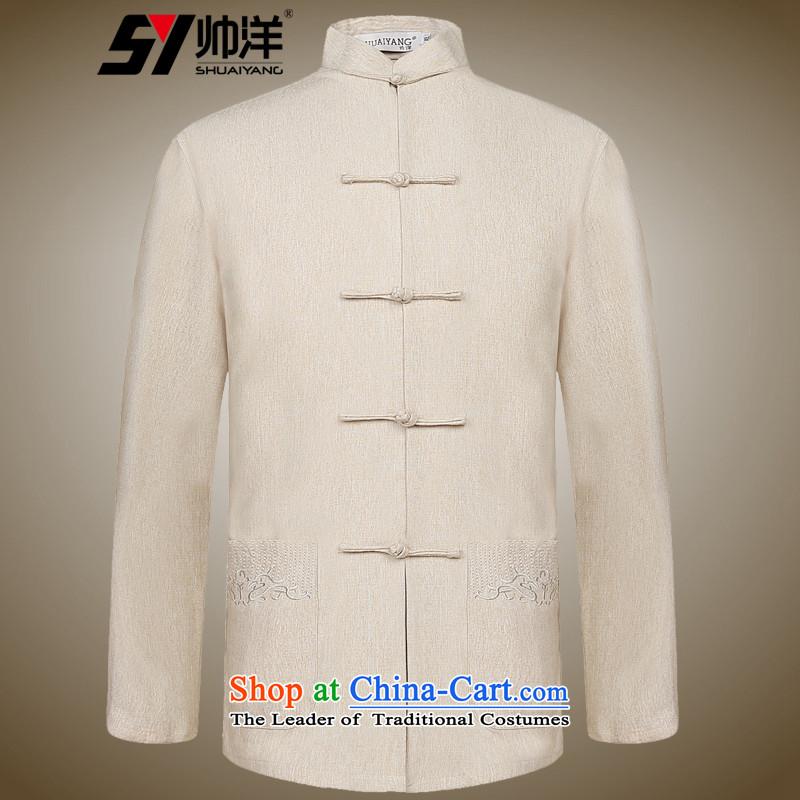 The Ocean 2015 Autumn Shuai new of Chinese Tang dynasty long sleeved shirt collar China wind linen clothes ma gray shirt聽170, Ocean (SHUAIYANG Shuai) , , , shopping on the Internet