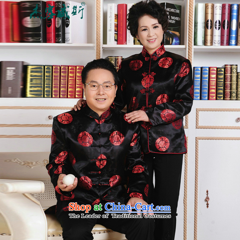 Jie in the autumn and winter of older women and men in Tang Dynasty Mom and Dad birthday couples loaded so life wedding long-sleeved sweater mother_聽XXXL