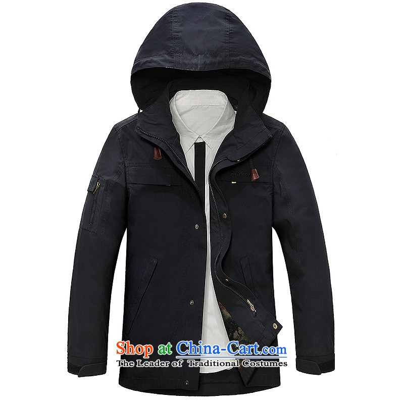 The field to the Roma New Men jacket washable leisure men jacket Z15802 Po Lan聽XXL