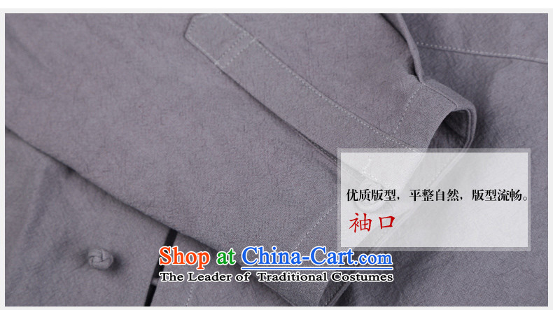 Renowned linen shirt men Tang dynasty and loose autumn shirts China wind Han-men linen long-sleeved sweater shirt light gray聽XXXL picture, prices, brand platters! The elections are supplied in the national character of distribution, so action, buy now enjoy more preferential! As soon as possible.