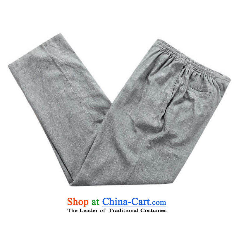 China wind men Tang dynasty long-sleeved kit male Han-cotton linen long-sleeved Kit Chinese collar manually disc detained men on cotton linen cuff kit multi-colored beige聽XXXL/190, optional thre line (gesaxing and Tobago) , , , shopping on the Internet