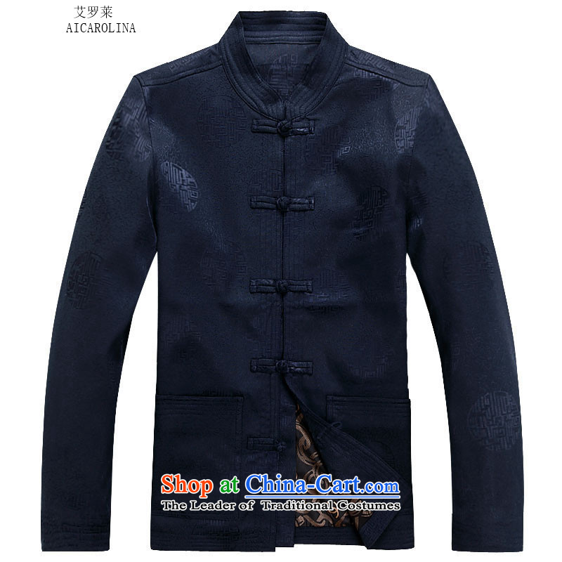 Hiv Rollet spring and autumn), Tang dynasty older men and packaged men Chinese thick jacket of older persons in long-sleeve sweater in Tang Dynasty Han-dark blue packaged聽XXL, HIV ROLLET (AICAROLINA) , , , shopping on the Internet
