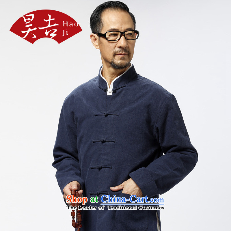 The Annual Autumn in old age, men Tang Dynasty Chinese long-sleeved improved China wind ball services for older persons and possession of blue Tang dynasty�5