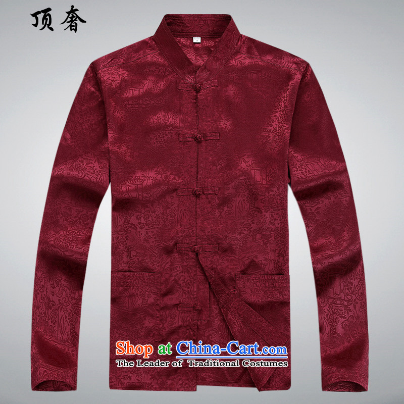 Top Luxury聽autumn 2015 Tang dynasty on men and a long-sleeved men Tang jackets of ethnic disc detained Tang blouses classical older Tang dynasty 8060) Red Kit聽XXL/180, top luxury shopping on the Internet has been pressed.