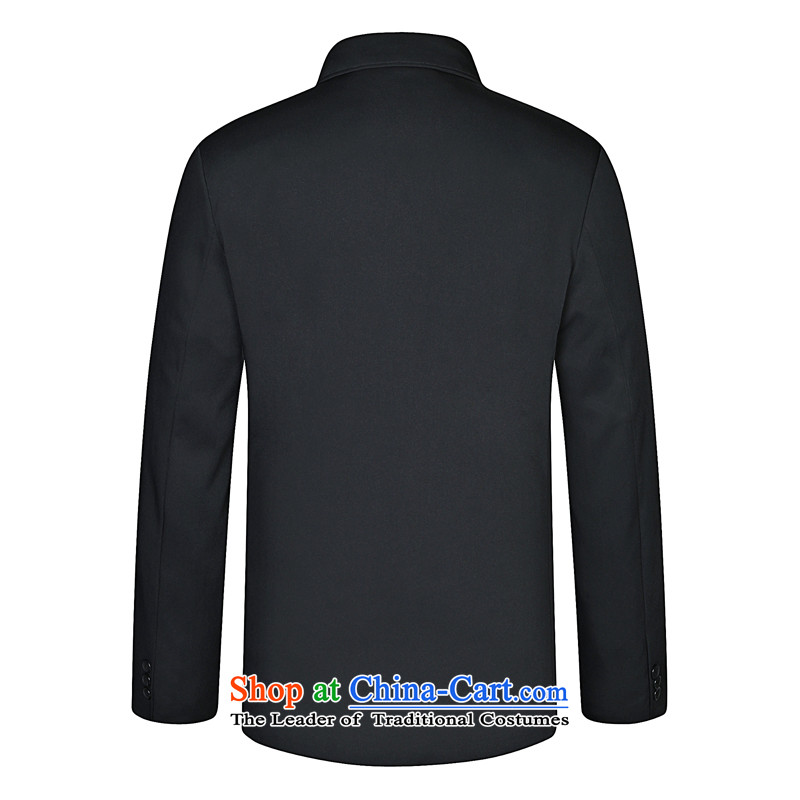 In 2015, New autumn and winter in older men Chinese tunic middle-aged men jacket collar father replacing older persons jacket is hidden deep聽in the Cyan 80/190, leaf , , , shopping on the Internet