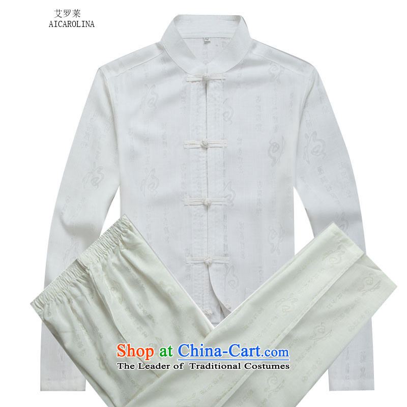 Hiv Rollet elderly services for autumn and winter ball a long-sleeved detained disk manually Tang Dynasty Package White聽XXL Kit