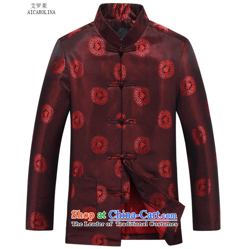 Hiv Rollet autumn and winter coats of elderly couples package version male red jacket�5
