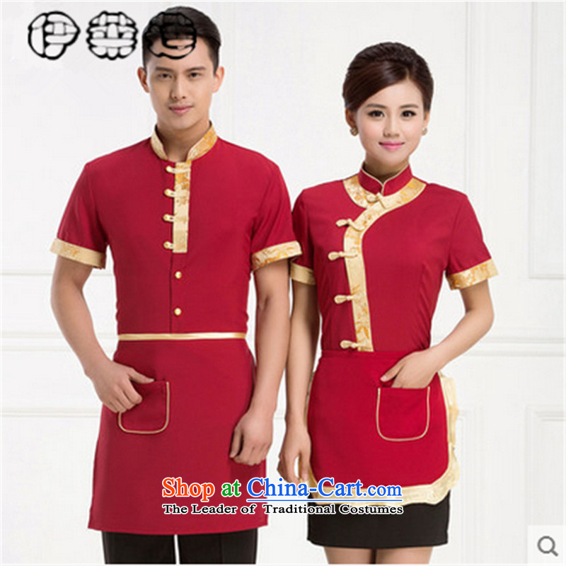 Hirlet Ephraim Fall 2015 attendants workwear men and women work hotel short-sleeved restaurant teahouse farmyard Hot Pot Restaurant in Tang Dynasty Chinese red?L