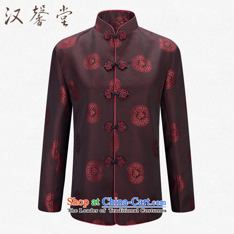 Han Xin Tong Tang jackets men too long-sleeved Tang Dynasty Shou ?t��a winter clothing of older persons in the autumn and winter coats of thick folder under My field female?M