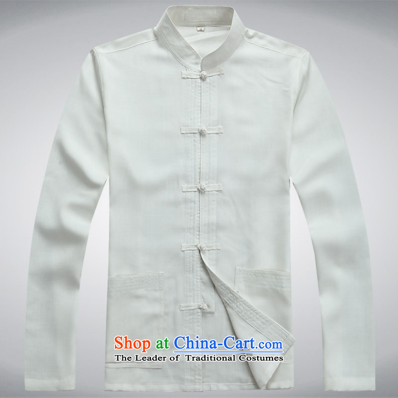 Men's long-sleeved Tang Dynasty Package jogs services practice suits tai chi services collar Chinese tunic聽190XXXXL, light gray (MUFONCE the Van Gogh) , , , shopping on the Internet