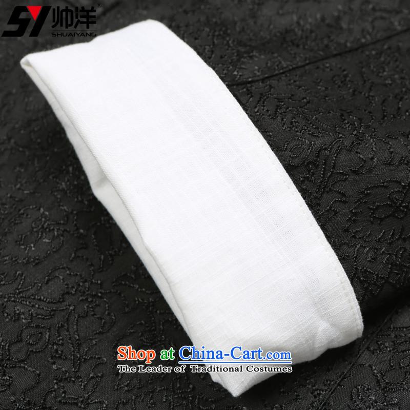 Install the latest Autumn Yang Shuai) Men's Shirt Jacket Tang China wind collar men Chinese jacket EMBROIDERED VELET PILE black聽170, yang (Shuai SHUAIYANG) , , , shopping on the Internet