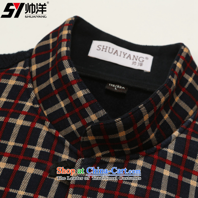 Shuai ocean autumn and winter new men, a Tang dynasty China wind youth Sau San onma folder at shoulder Chinese vest grid spend 180, yang (Shuai SHUAIYANG) , , , shopping on the Internet
