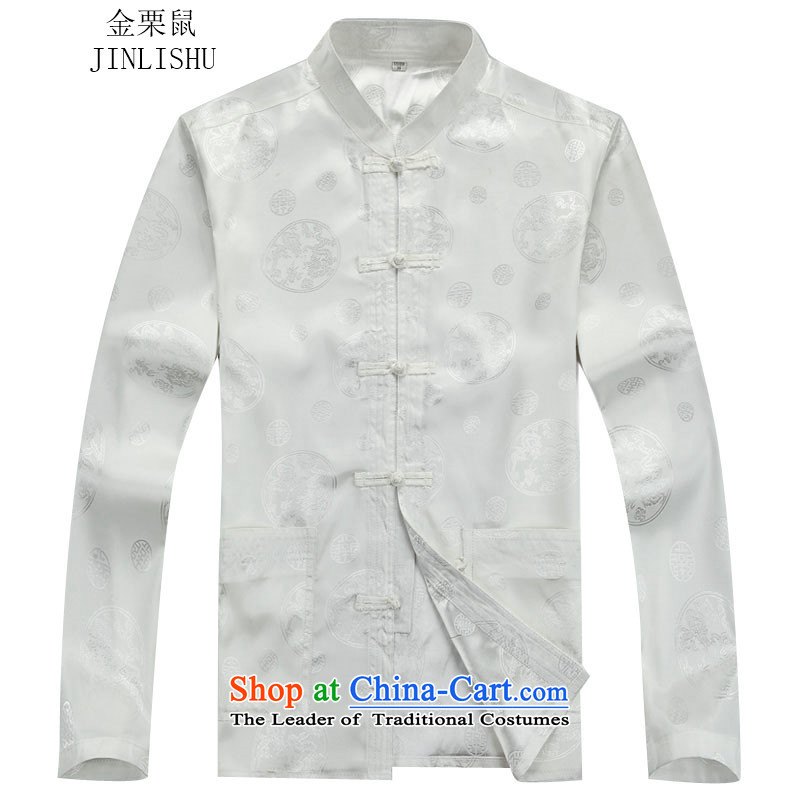 Kanaguri mouse autumn and winter New Men long-sleeved Tang Dynasty Package white kit聽M kanaguri mouse (JINLISHU) , , , shopping on the Internet