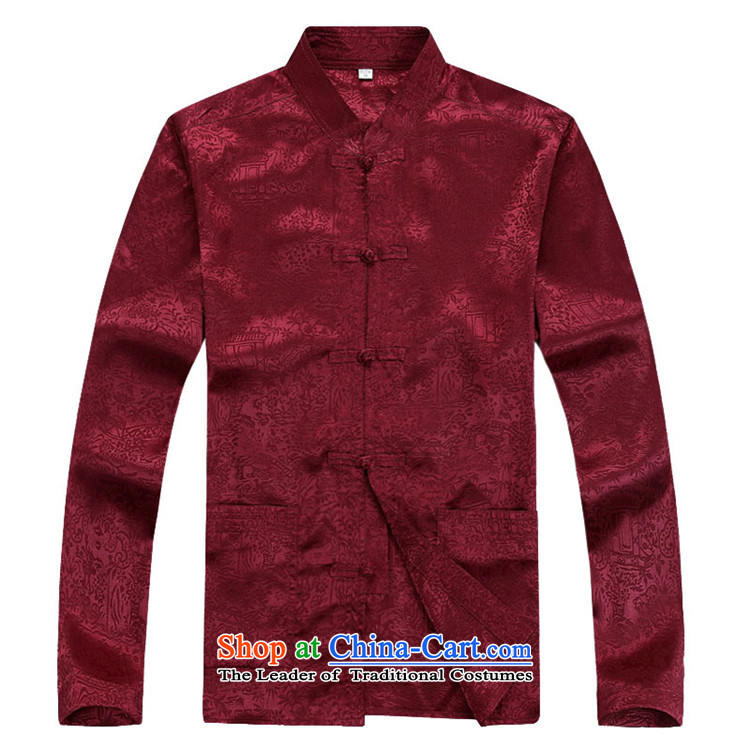 Kanaguri mouse autumn new long-sleeved men in older men Tang blouses red T-shirt XXL picture, prices, brand platters! The elections are supplied in the national character of distribution, so action, buy now enjoy more preferential! As soon as possible.