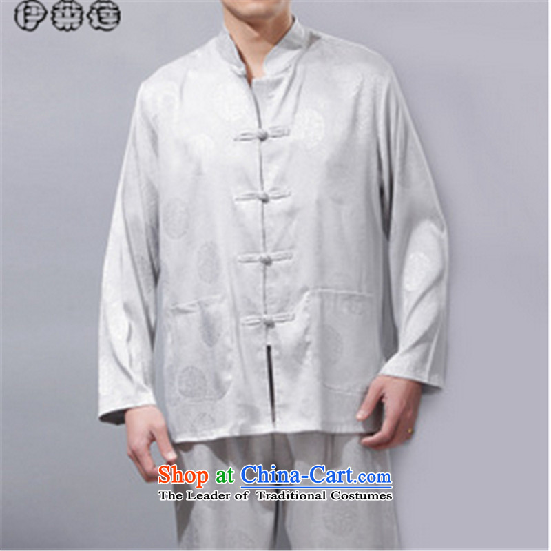 Hirlet in the autumn of 2015, New Ephraim of Chinese China wind leisure in the father of the elderly men Tang Dynasty Package male l?190 Gray