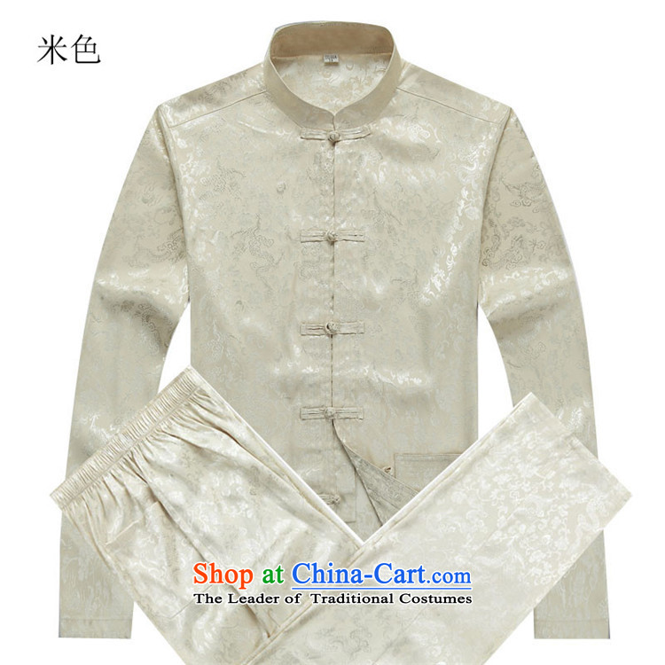 Kanaguri mouse autumn New Kit Tang dynasty Long-sleeve Kit Man Tang dynasty beige kit M picture, prices, brand platters! The elections are supplied in the national character of distribution, so action, buy now enjoy more preferential! As soon as possible.