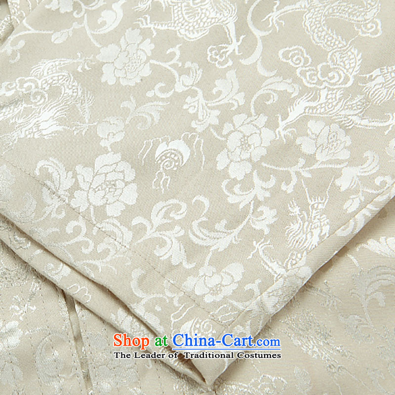 Kanaguri mouse autumn New Kit Tang dynasty Long-sleeve Kit Man Tang dynasty beige kit聽M kanaguri mouse (JINLISHU) , , , shopping on the Internet