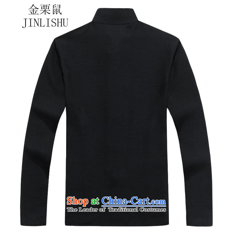 Kanaguri mouse men in Tang Dynasty older men long-sleeved Tang Dynasty Package for autumn and winter new black T-shirt聽, kanaguri mouse (JINLISHU) , , , shopping on the Internet
