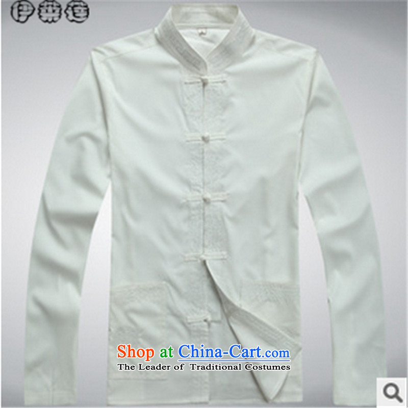 Hirlet in the autumn of 2015, New Ephraim, older men l Tang dynasty father grandfather shirt Kit + white pants blouses?185