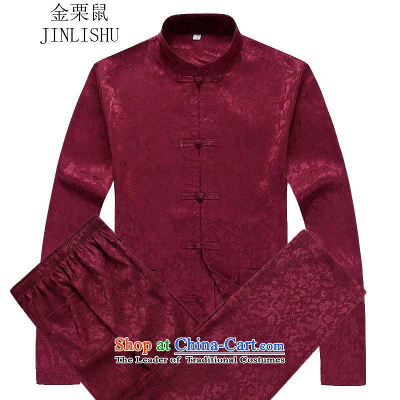 Kanaguri mouse autumn New Kit Tang dynasty Long-sleeve Tang red kit聽XXL