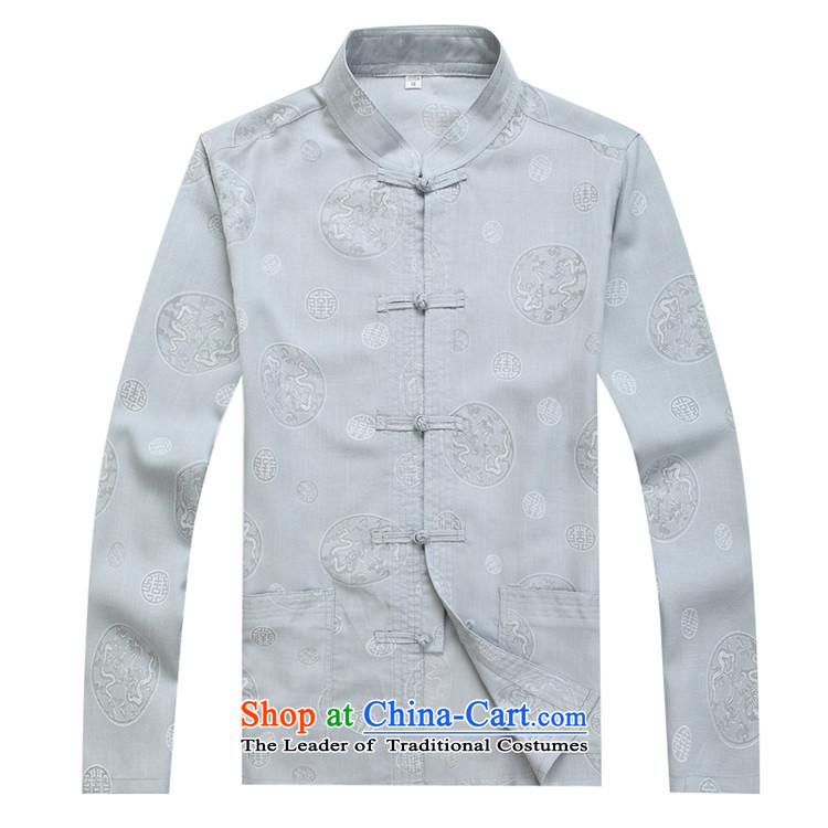 Kanaguri mouse autumn new Tang dynasty Long-sleeve Kit Man Tang dynasty gray suit M picture, prices, brand platters! The elections are supplied in the national character of distribution, so action, buy now enjoy more preferential! As soon as possible.
