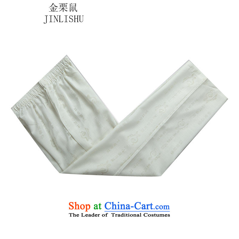 Kanaguri mouse autumn New Men long-sleeved jogs Tang Dynasty Package White Kit聽XXXL, kanaguri mouse (JINLISHU) , , , shopping on the Internet