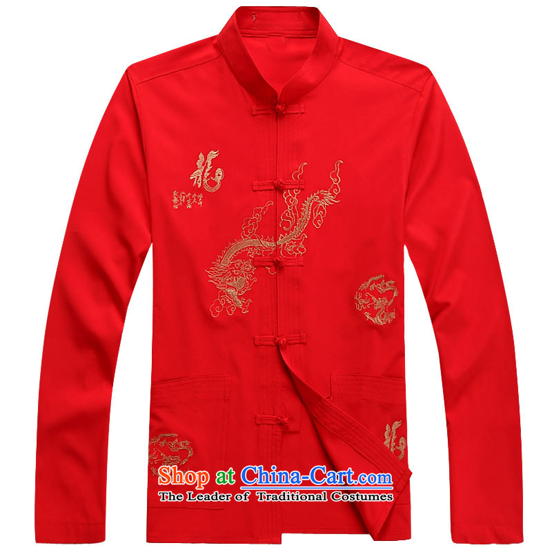 Hiv Rollet 2015 Fall/Winter Collections men Tang dynasty long-sleeved kit national costumes red kit聽XL Photo, prices, brand platters! The elections are supplied in the national character of distribution, so action, buy now enjoy more preferential! As soon as possible.
