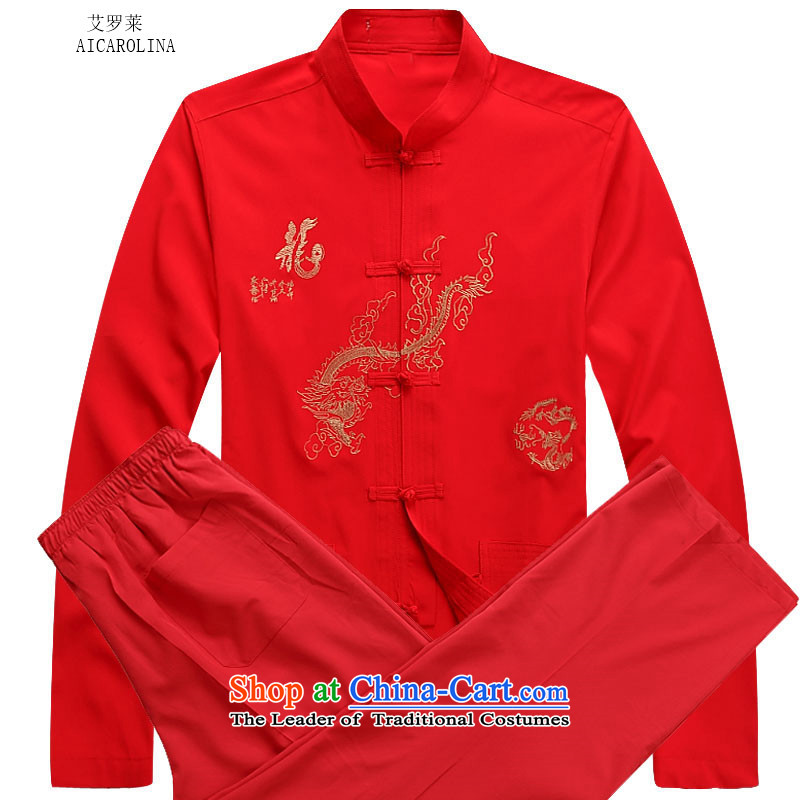 Hiv Rollet 2015 Fall_Winter Collections men Tang dynasty long-sleeved kit national costumes red kit?XL