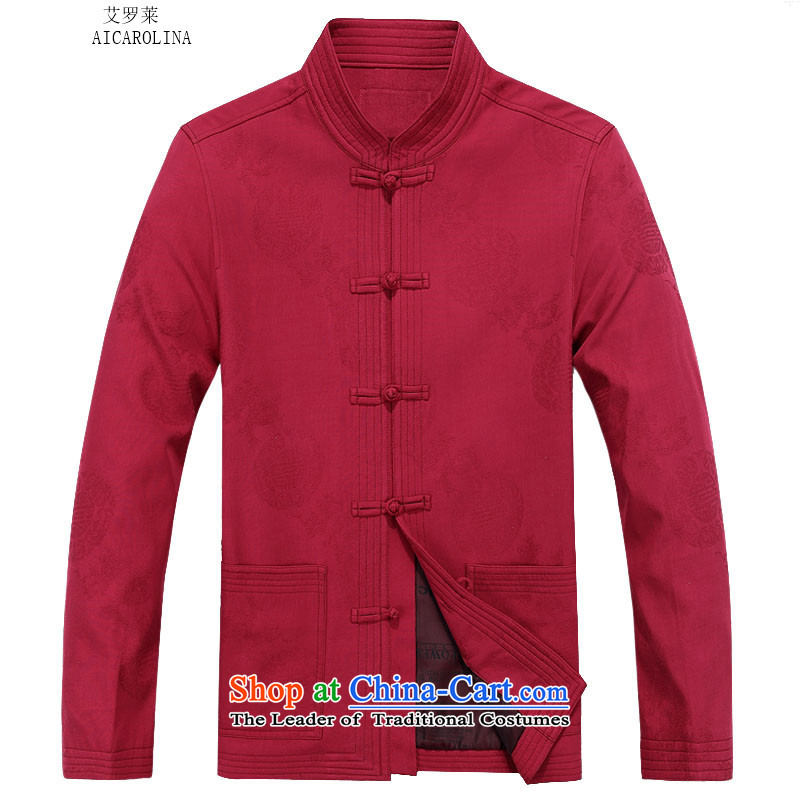 Hiv Rollet 2015 Tang Dynasty Package men's autumn and winter sets long-sleeved jacket Tang Man jacket red T-shirt聽75