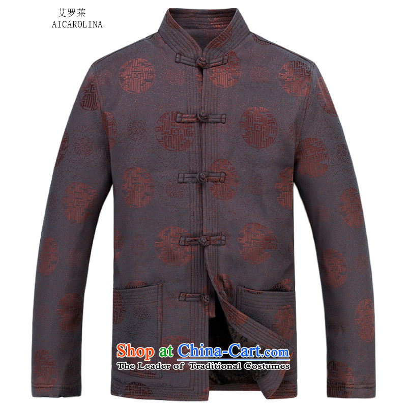 Hiv Rollet Men long-sleeved millennium thick cotton in older men Tang Dynasty Package聽XXXL, BROWN HIV ROLLET (AICAROLINA) , , , shopping on the Internet